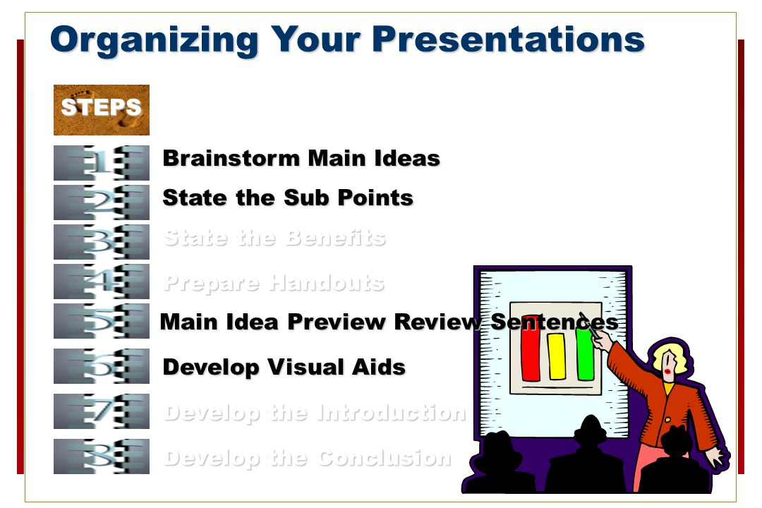 Organizing Your Presentations