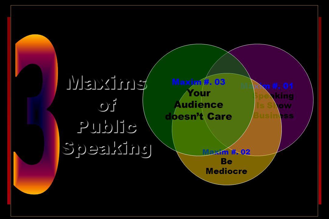 Maxims of Public Speaking