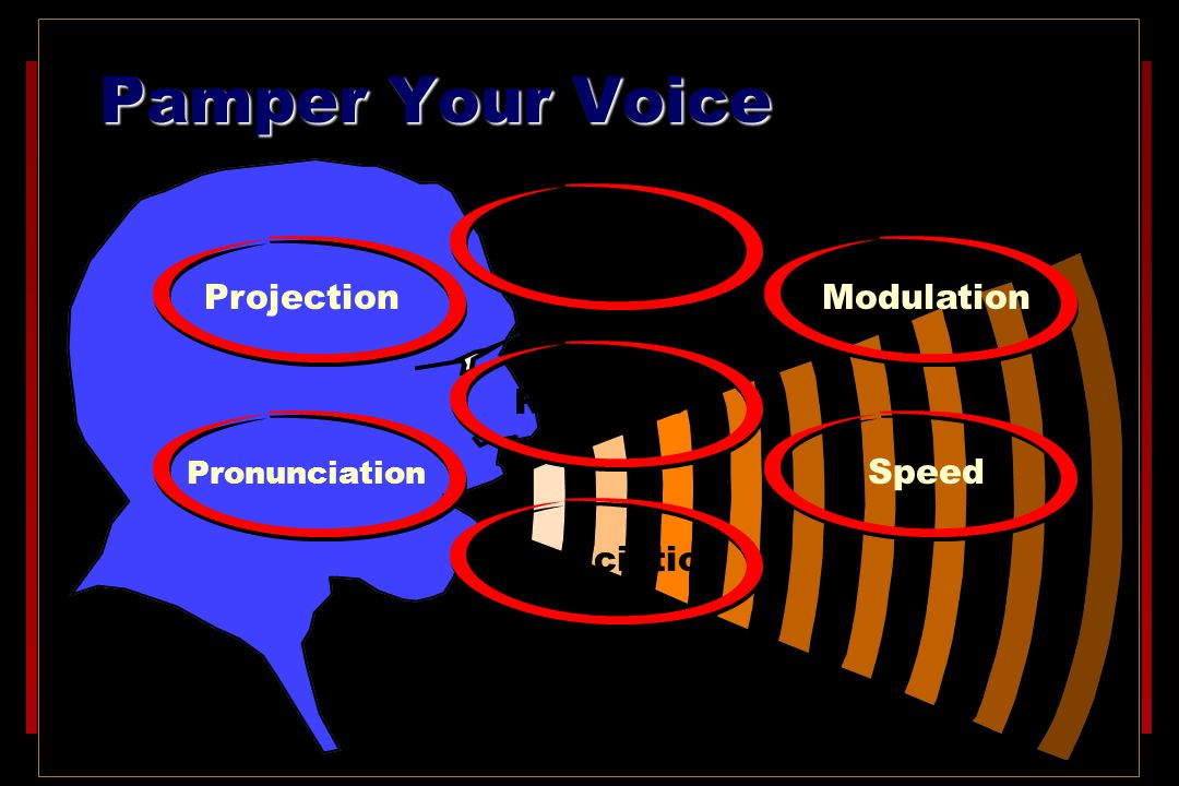 Pamper Your Voice Articulation Projection Modulation Repetition Speed