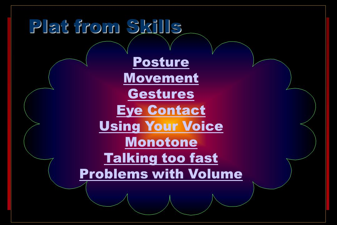 Plat from Skills Posture Movement Gestures Eye Contact