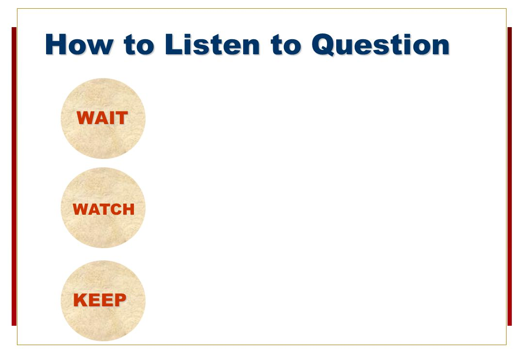 How to Listen to Question