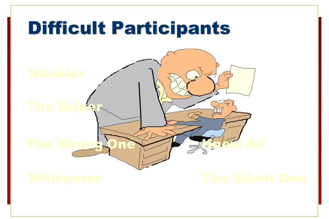 Difficult Participants