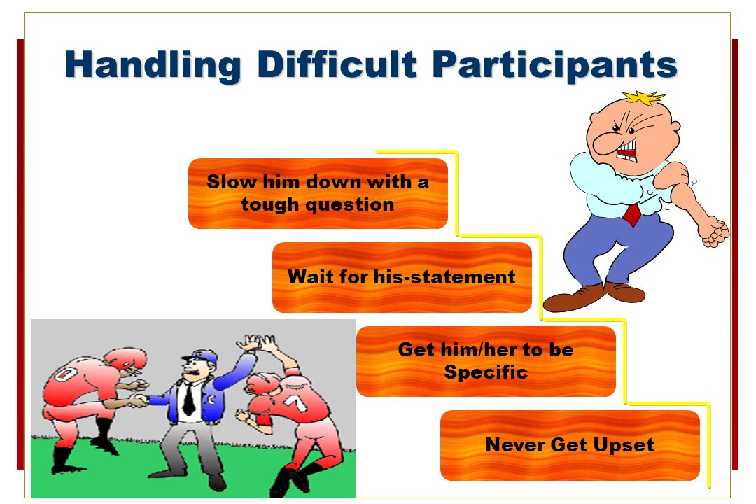 Handling Difficult Participants