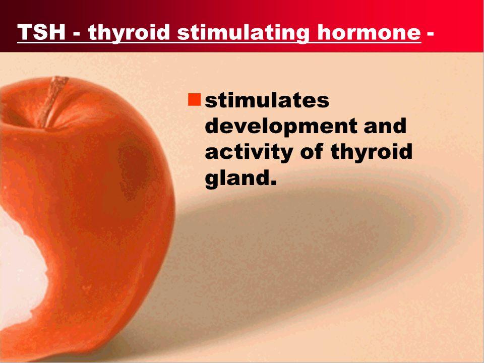 TSH - thyroid stimulating hormone -