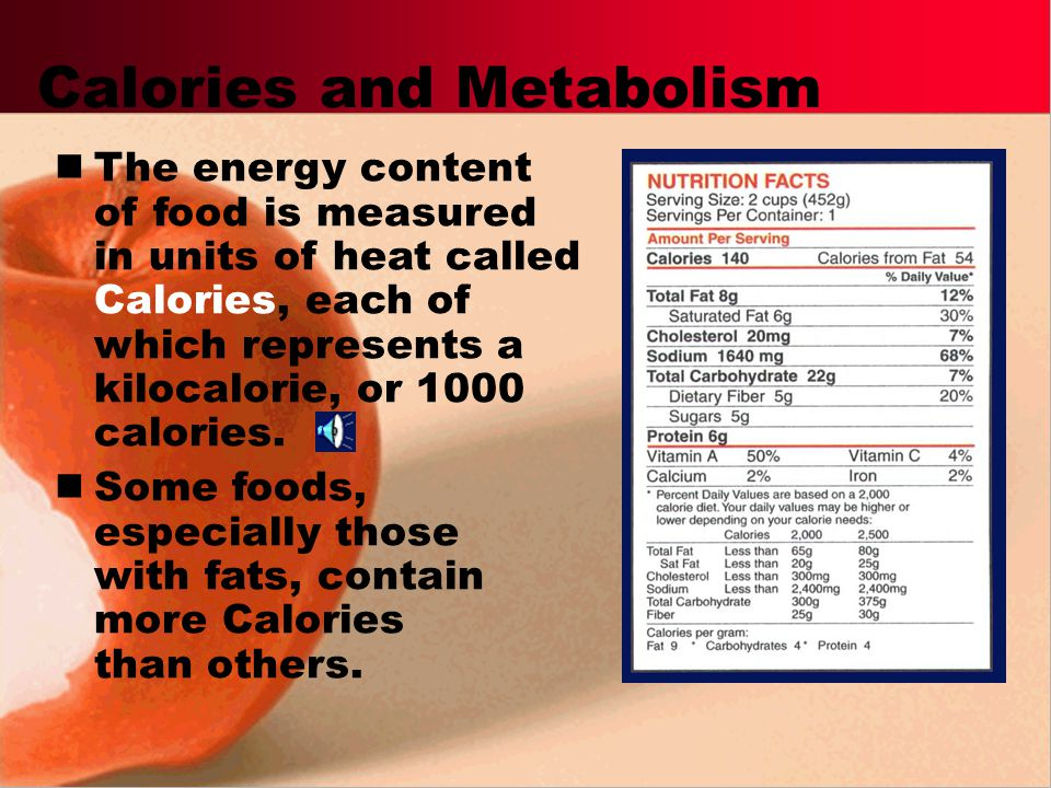 Calories and Metabolism