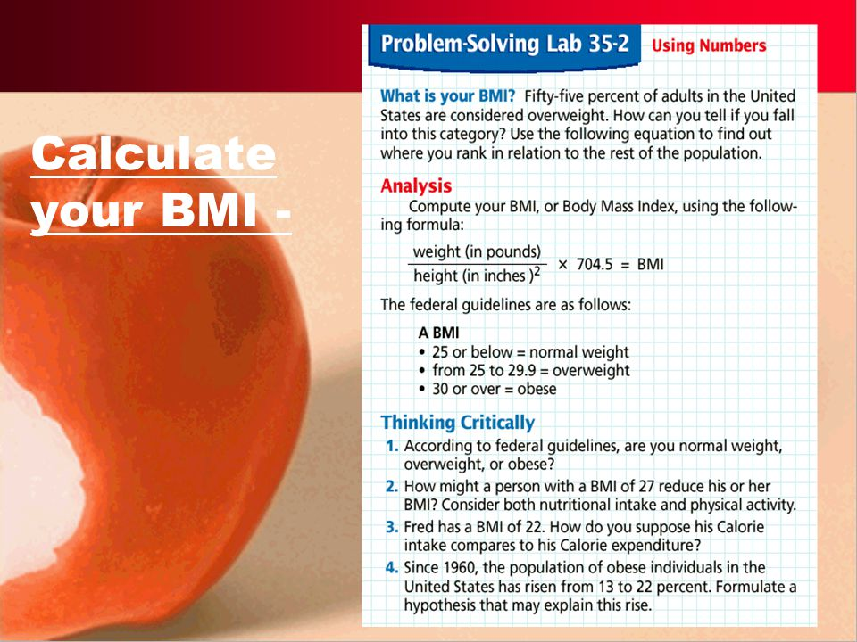 Calculate your BMI -