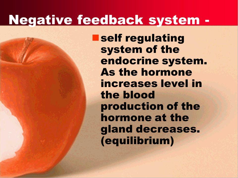 Negative feedback system -