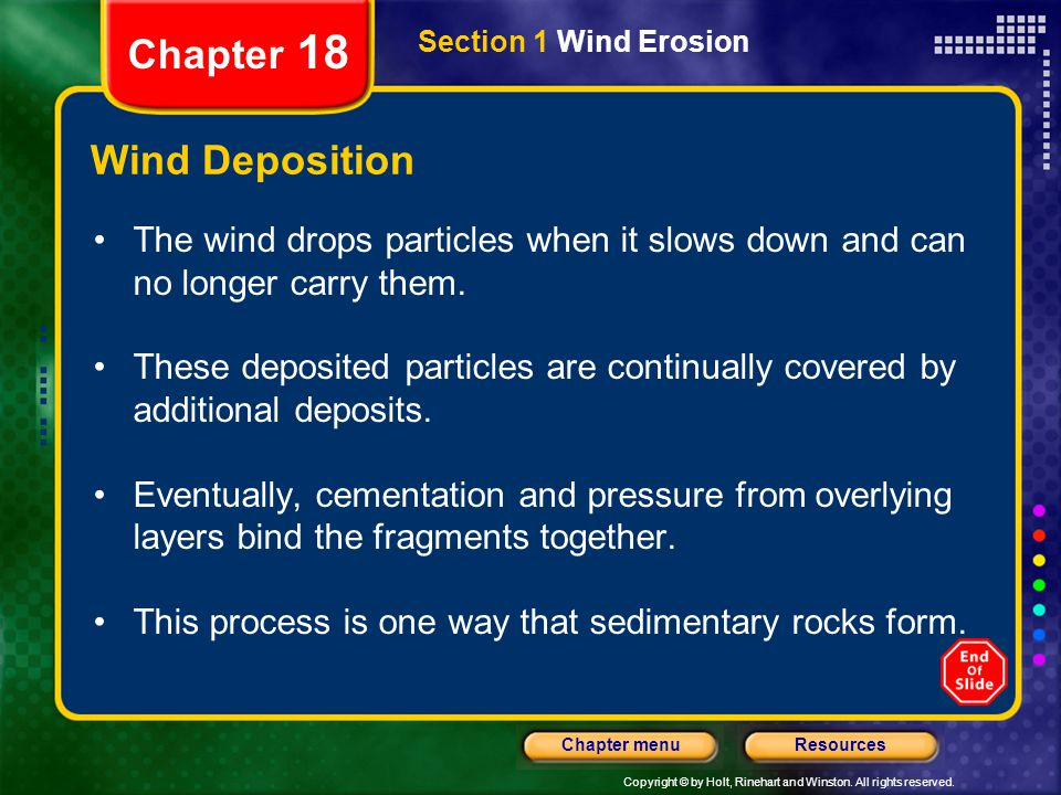 Chapter 18 Wind Deposition