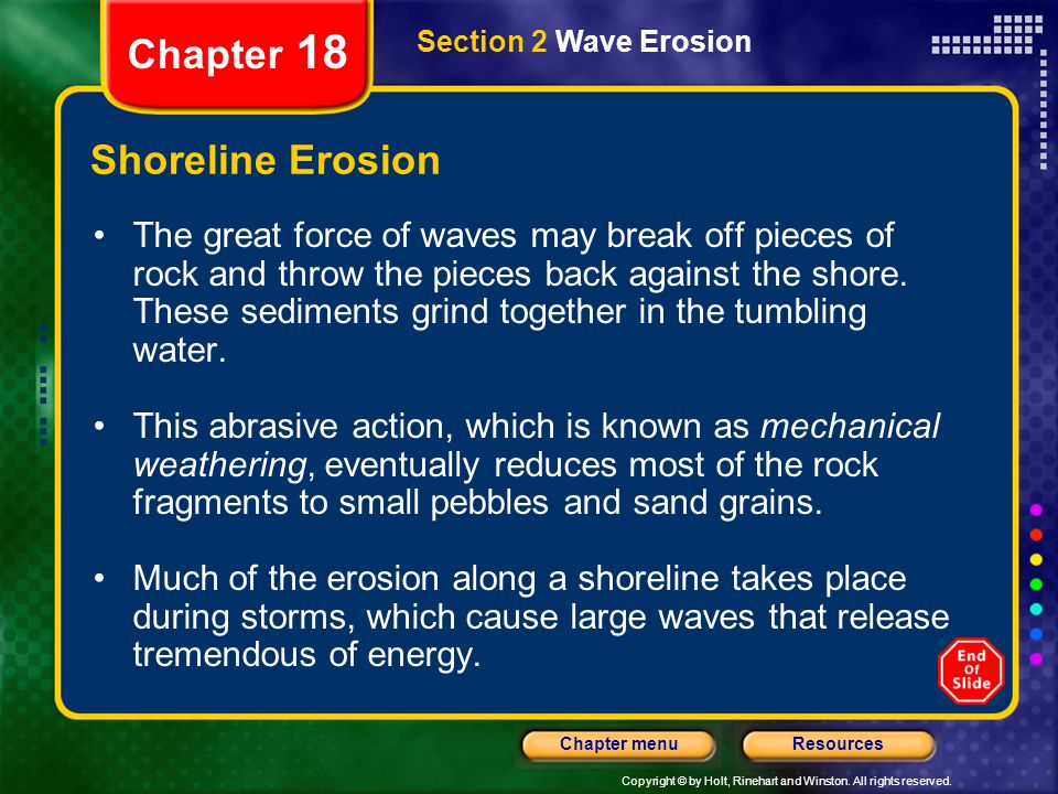 Chapter 18 Shoreline Erosion