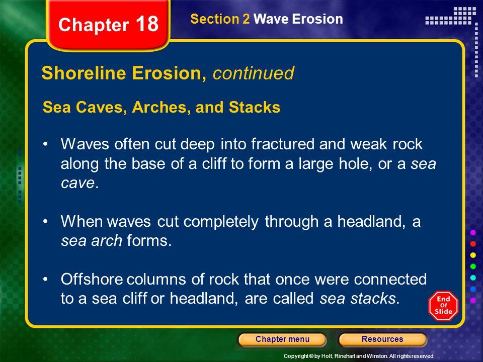 Shoreline Erosion, continued