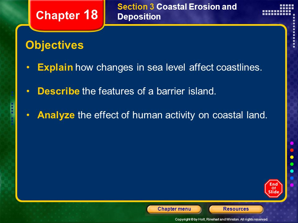 Section 3 Coastal Erosion and Deposition
