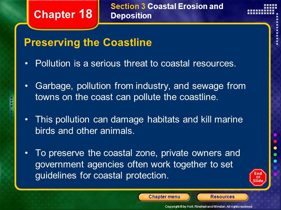 Preserving the Coastline