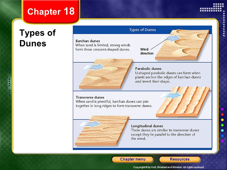 Chapter 18 Types of Dunes