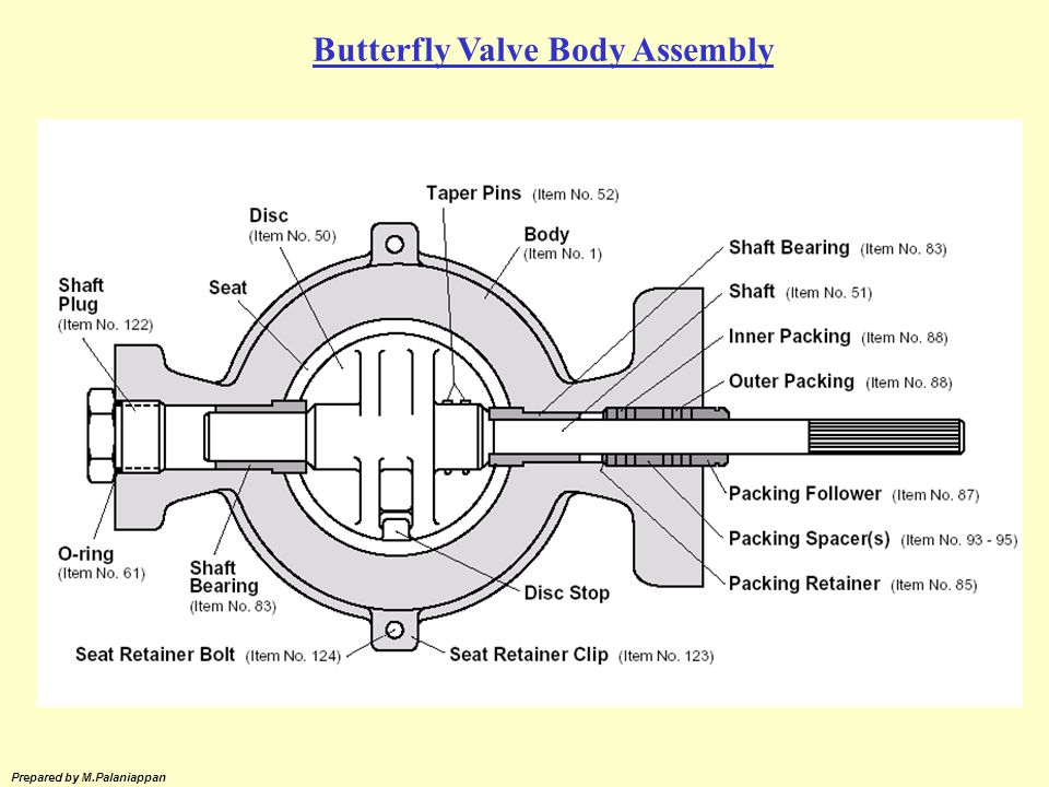 Butterfly Valve Body Assembly