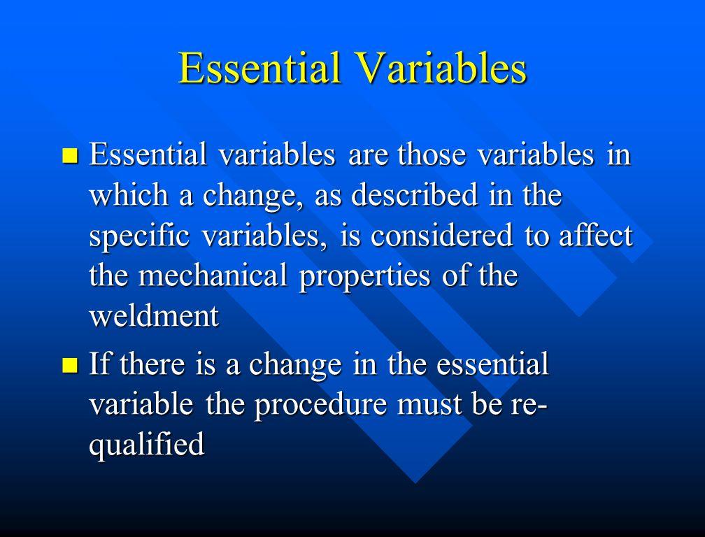 Essential Variables
