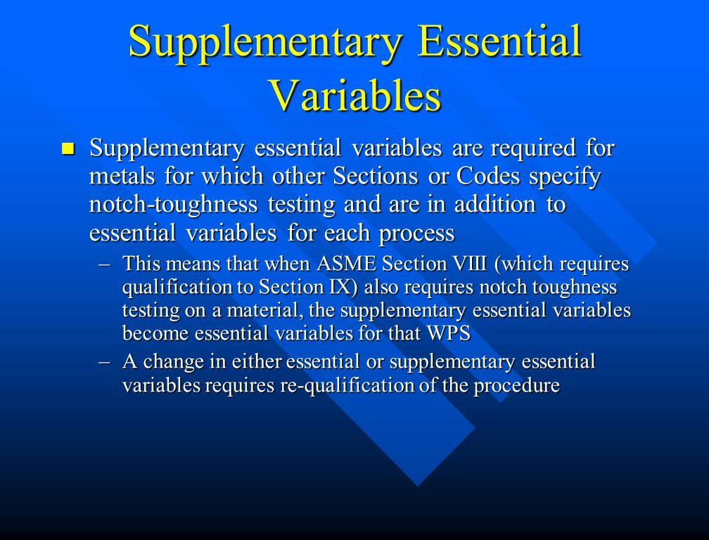 Supplementary Essential Variables