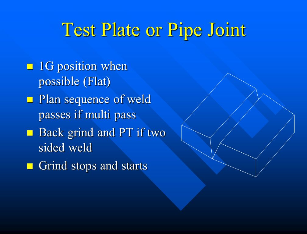 Test Plate or Pipe Joint