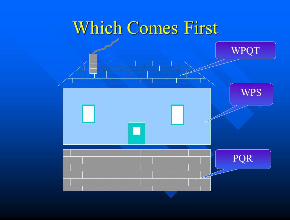 Which Comes First WPQT WPS PQR