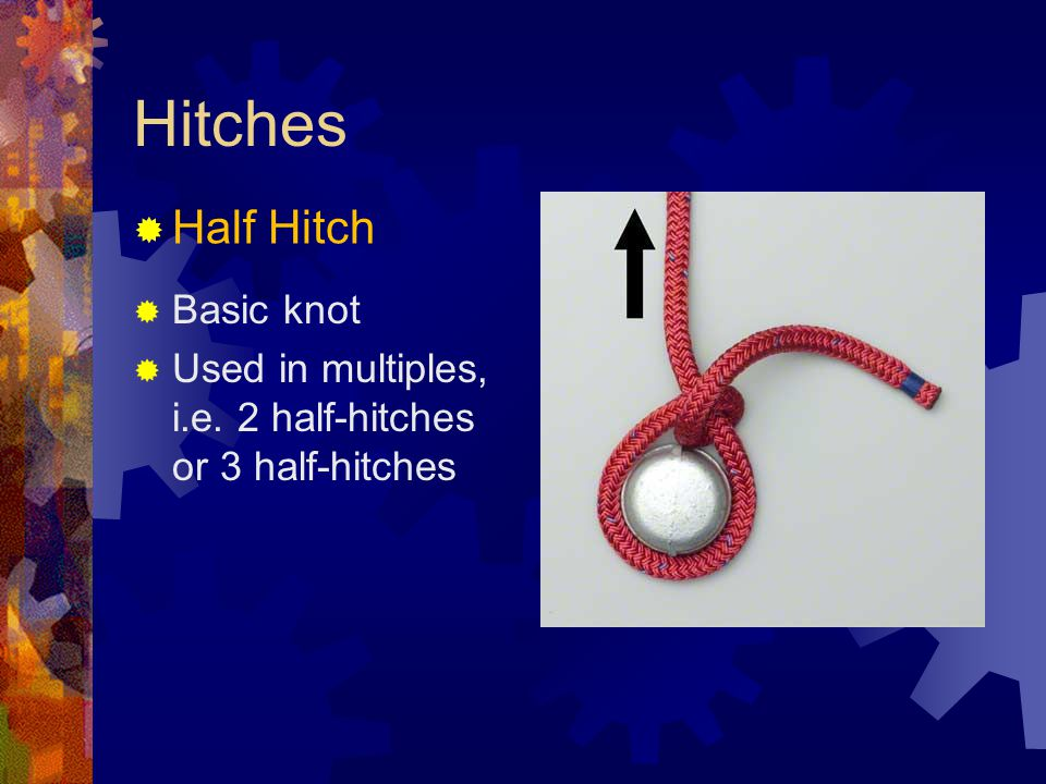 Hitches Half Hitch Basic knot