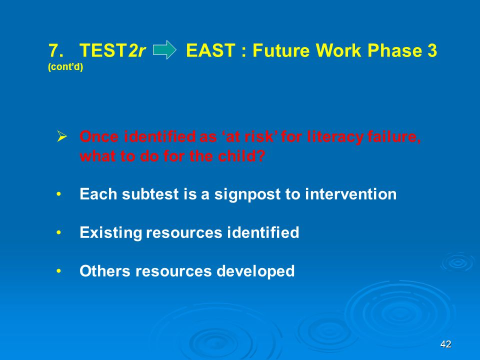 7. TEST2r EAST : Future Work Phase 3 (cont'd)