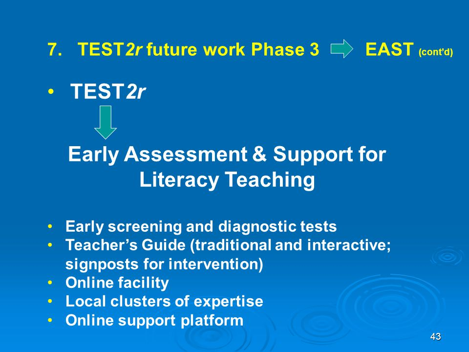Early Assessment & Support for Literacy Teaching