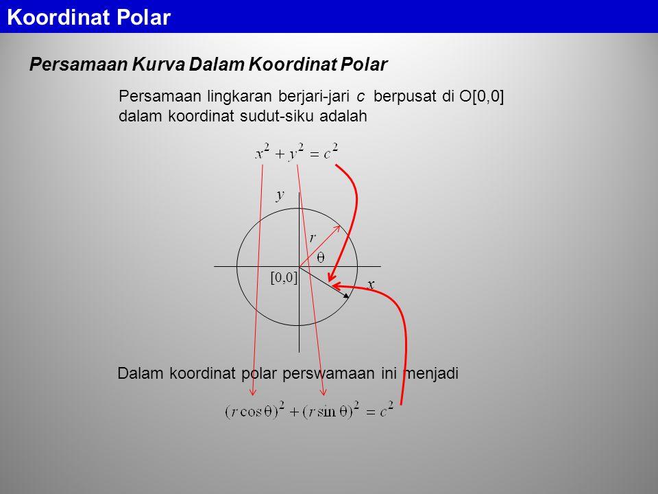 Koordinat Polar Persamaan Kurva Dalam Koordinat Polar