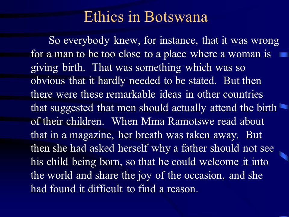 Ethics in Botswana