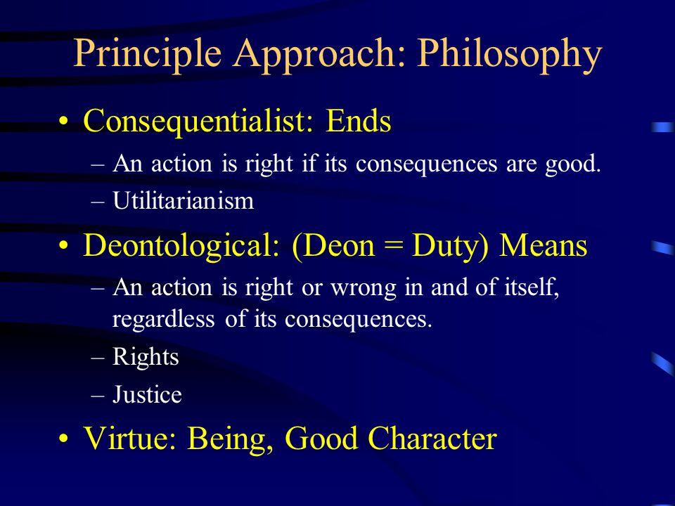 Principle Approach: Philosophy