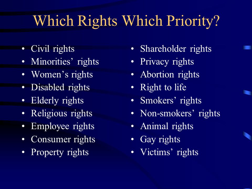 Which Rights Which Priority