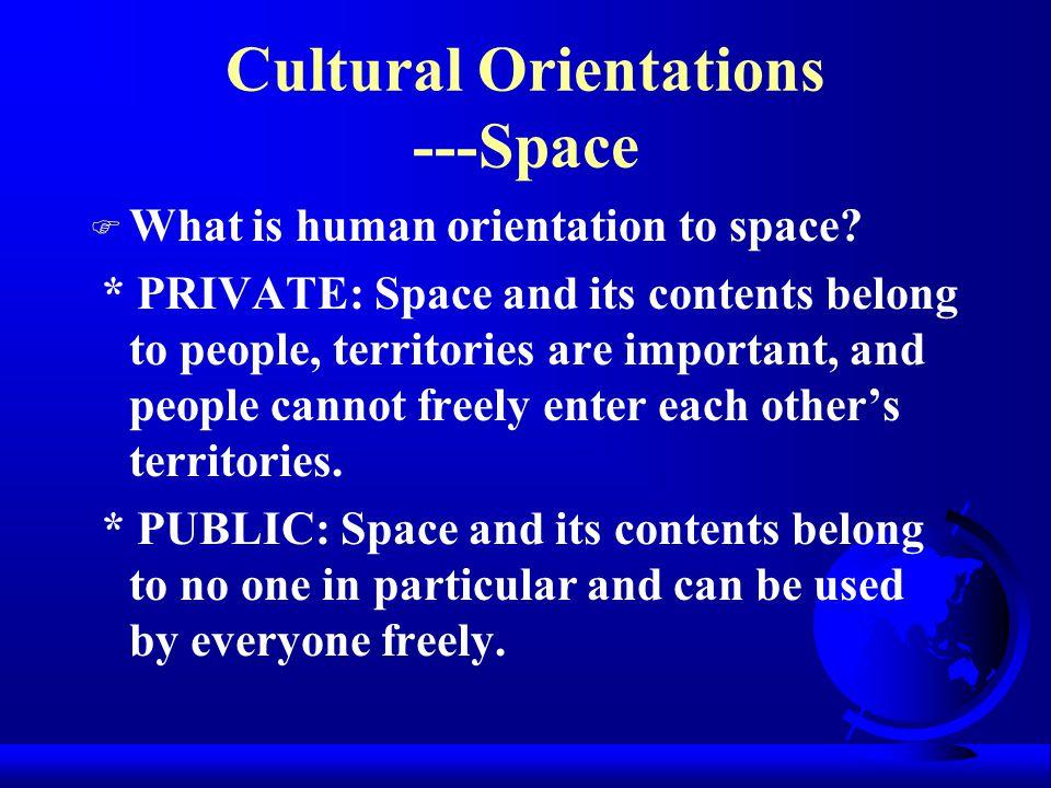 Cultural Orientations ---Space