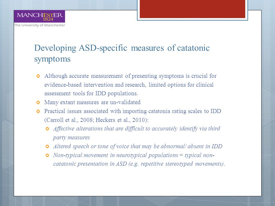 Developing ASD-specific measures of catatonic symptoms