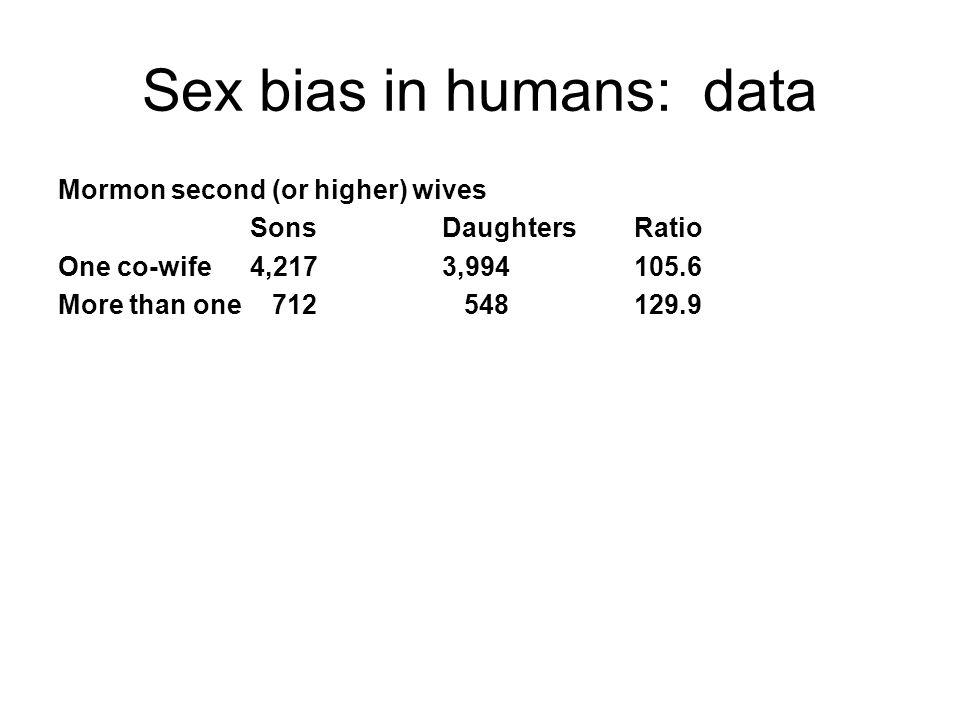 Sex bias in humans: data