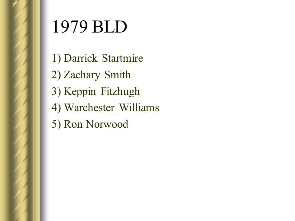 1979 BLD 1) Darrick Startmire 2) Zachary Smith 3) Keppin Fitzhugh