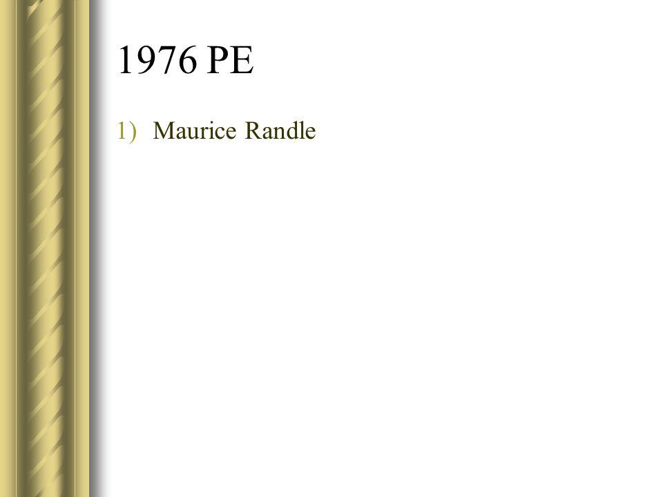 1976 PE Maurice Randle