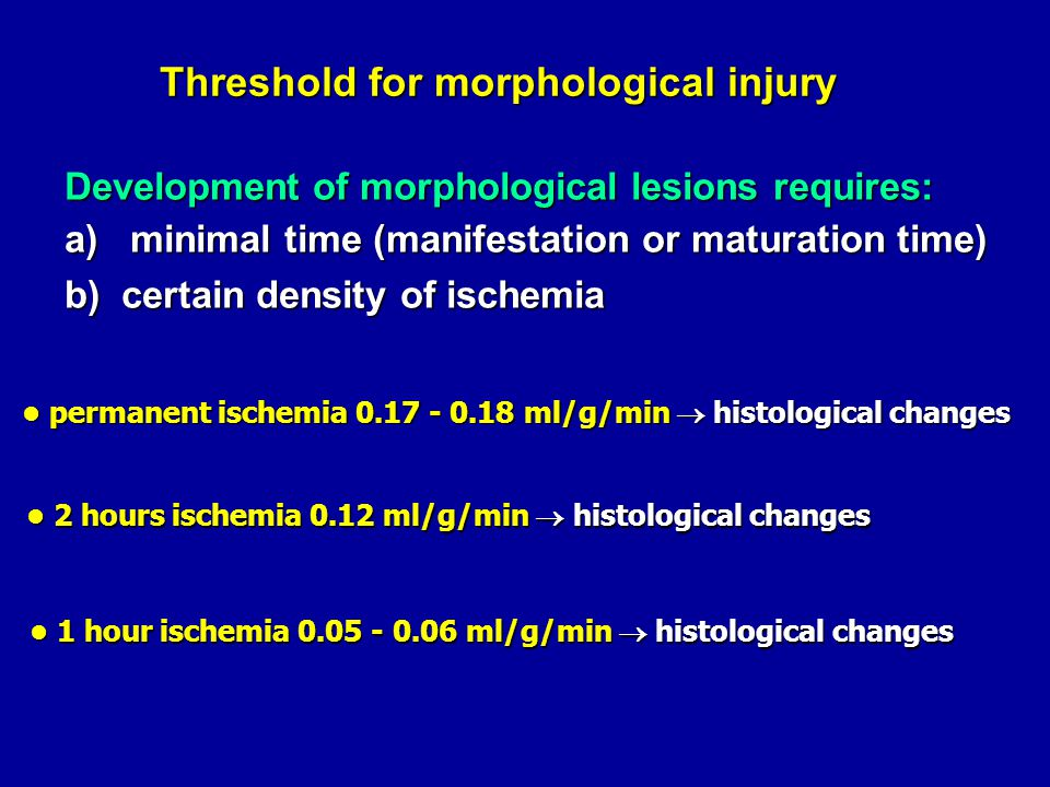 Threshold for morphological injury