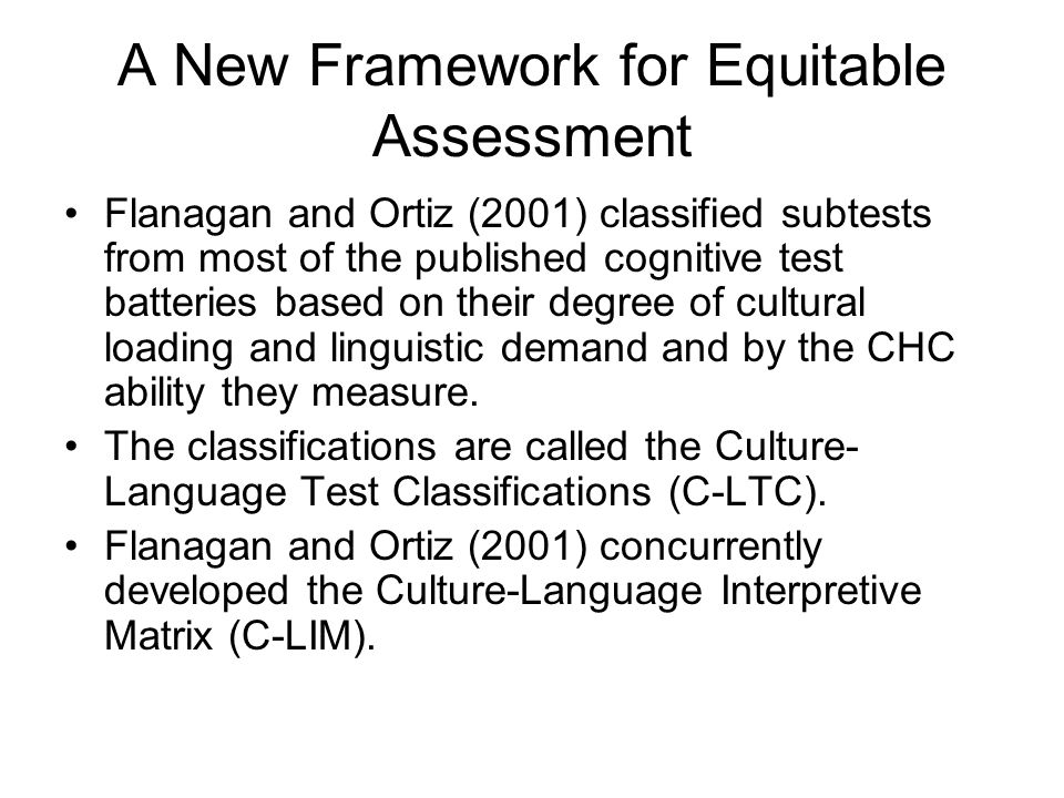 A New Framework for Equitable Assessment