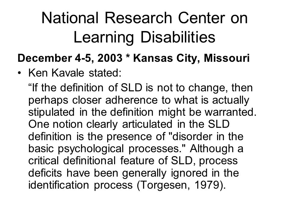 National Research Center on Learning Disabilities