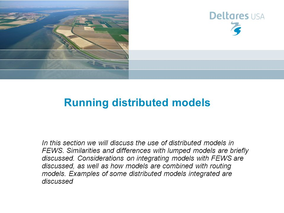 Running distributed models