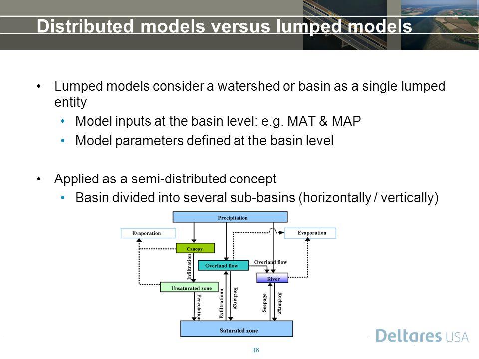 Distributed models versus lumped models