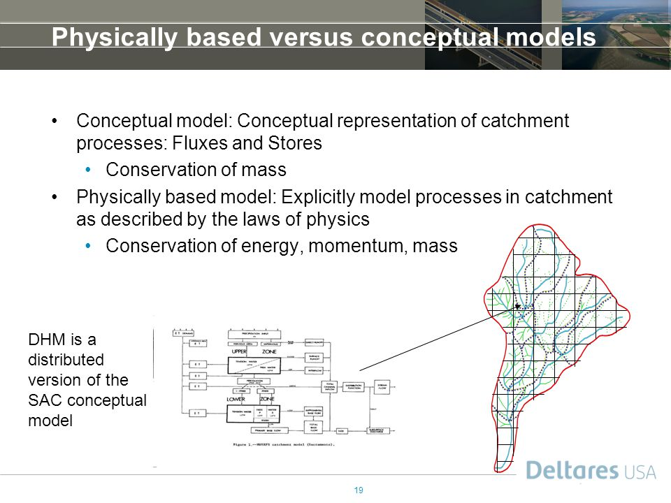 Physically based versus conceptual models