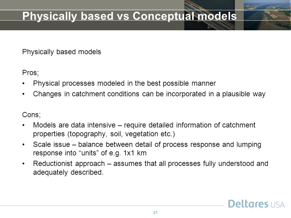 Physically based vs Conceptual models
