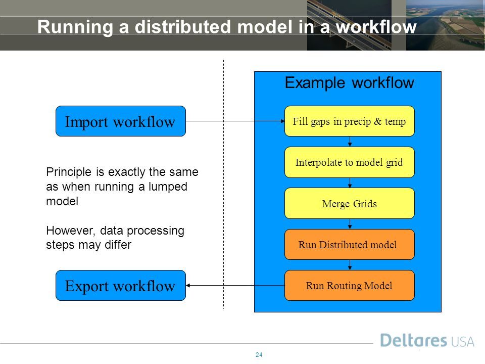 Running a distributed model in a workflow