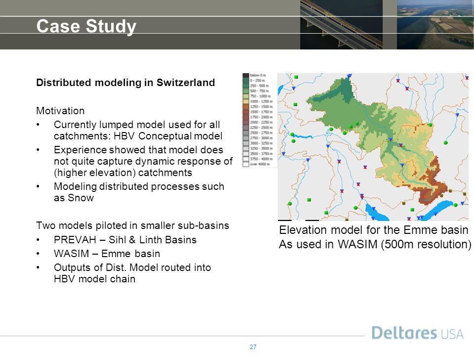 Case Study Elevation model for the Emme basin