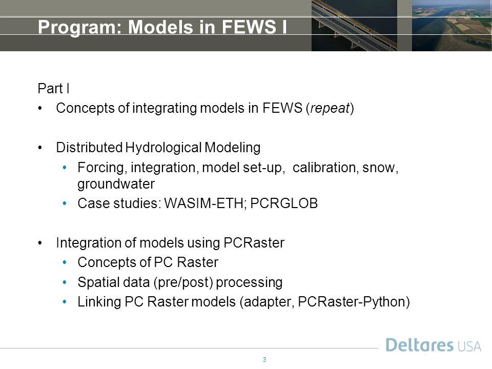Program: Models in FEWS I