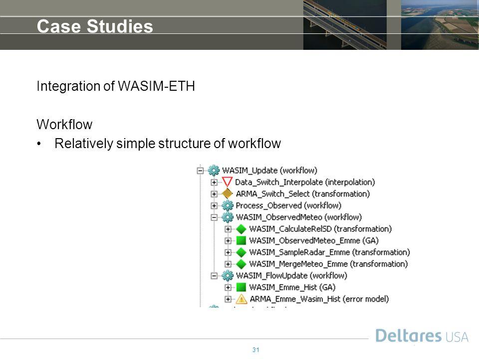 Case Studies Integration of WASIM-ETH Workflow