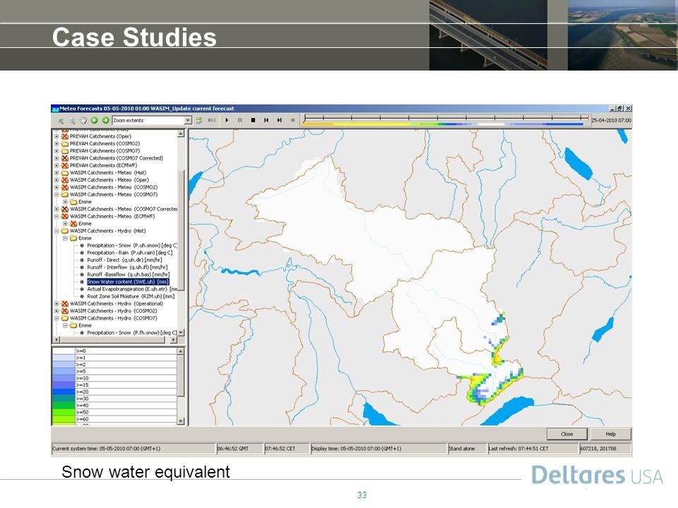 Case Studies Snow water equivalent