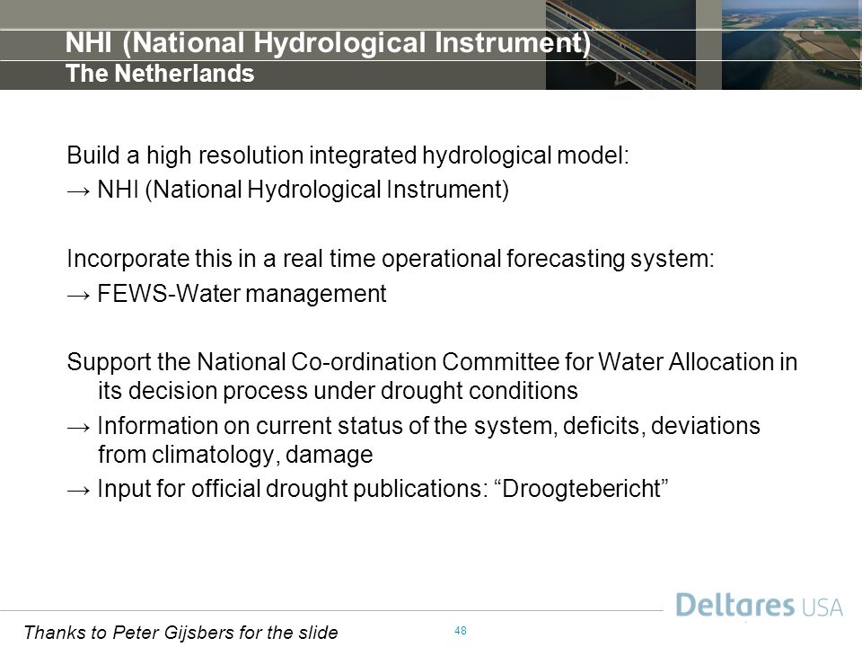 NHI (National Hydrological Instrument) The Netherlands