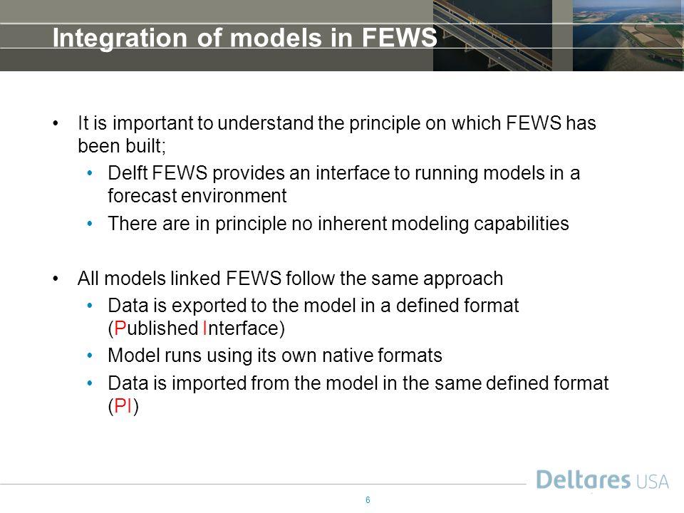 Integration of models in FEWS