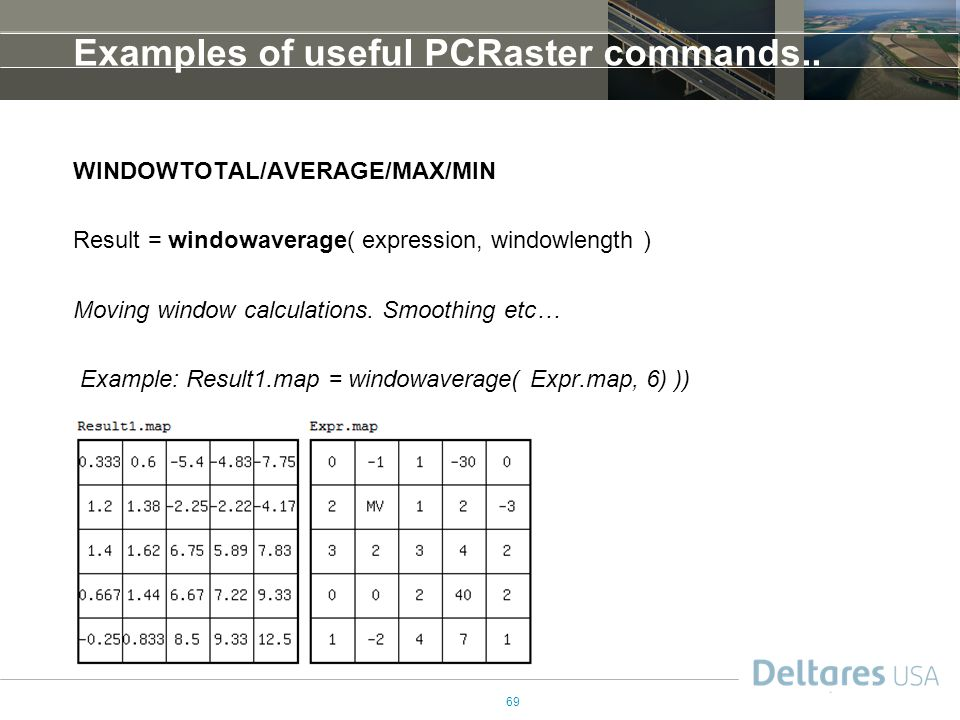 Examples of useful PCRaster commands..