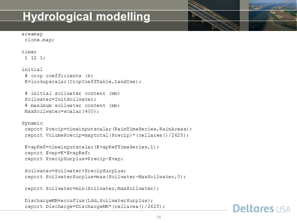 Hydrological modelling